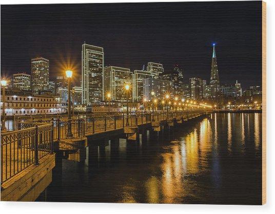 Pier 7 Wood Print