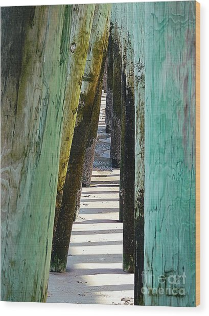 Pier Anchors  Wood Print
