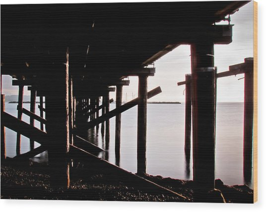 Pier Ocean And Angles Wood Print