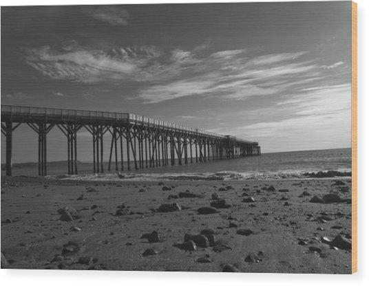 Pier San Simeon-1 Wood Print