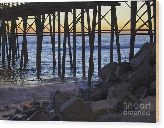 Pier Through  Wood Print
