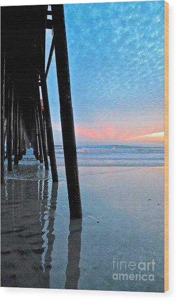 Pier Under Wood Print