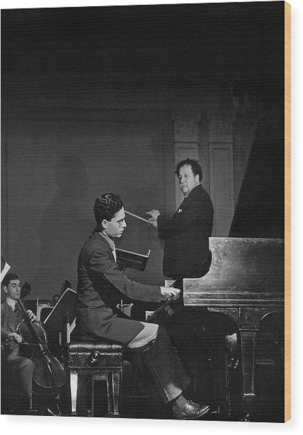 Pierre Monteux With Leon Fleisher Wood Print
