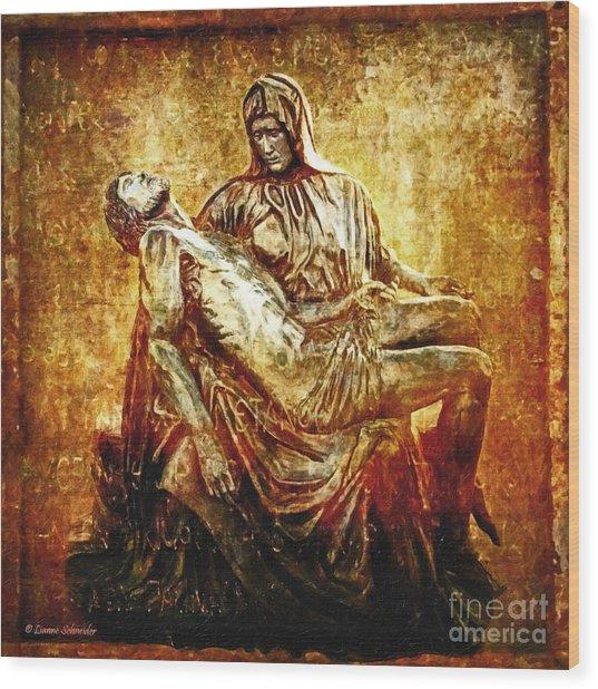 Pieta Via Dolorosa 13 Wood Print