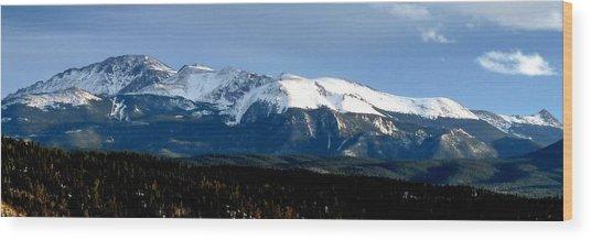 Pikes Peak Panorama Wood Print