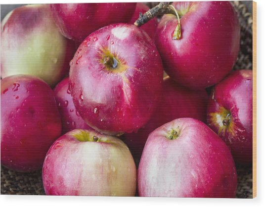 Pile Of Apples Wood Print