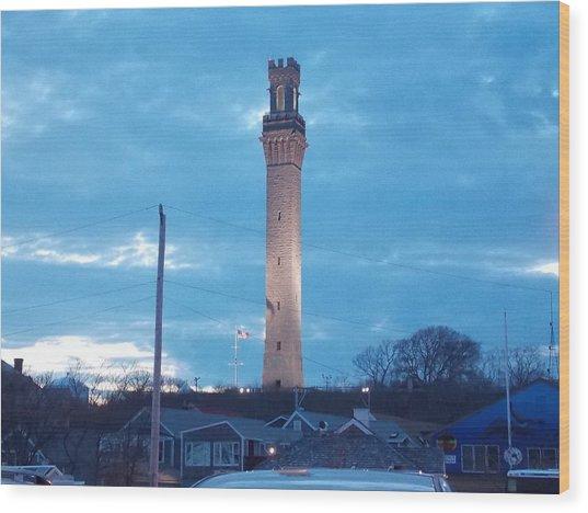 Pilgrim Tower Wood Print