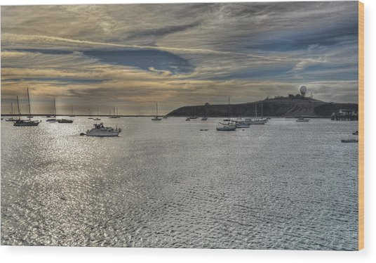 Pillar Point Sunset Wood Print