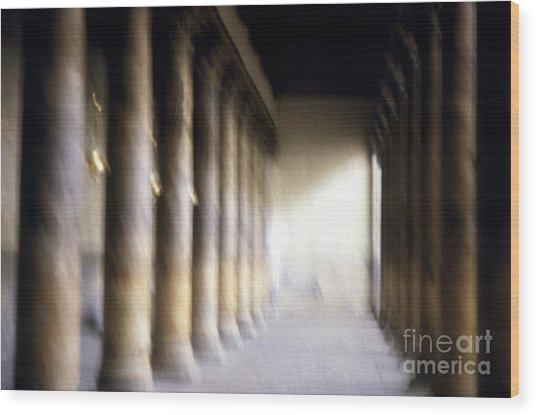 Pillars In Israel Wood Print by Scott Shaw
