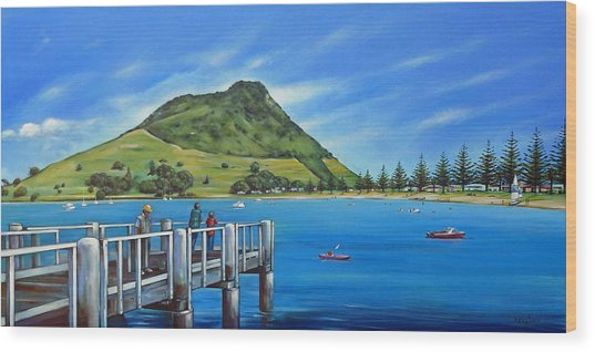 Pilot Bay Mt Maunganui 201214 Wood Print