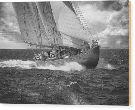 Pilot Schooner Virginia Wood Print