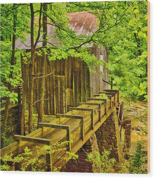 Pine Run Mill Wood Print