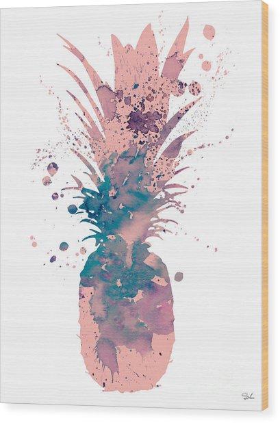 Pineapple 3 Wood Print