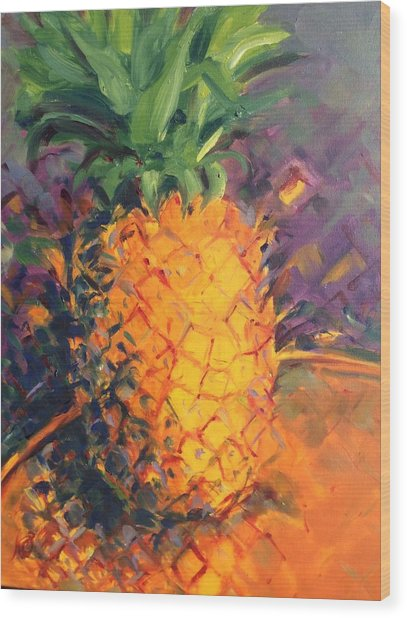 Pineapple Explosion Wood Print