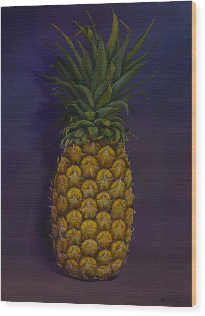 Pineapple Merlot Wood Print