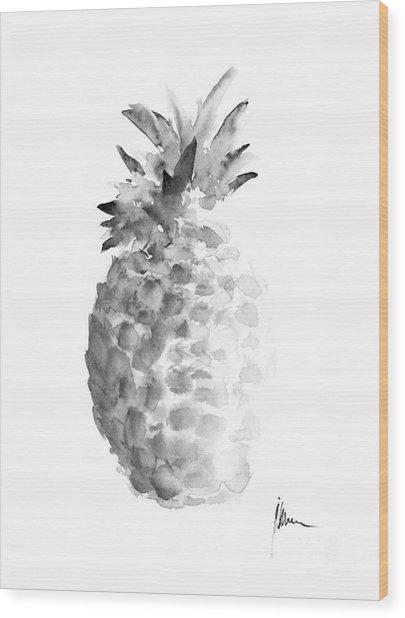 Pineapple Painting Watercolor Art Print Wood Print