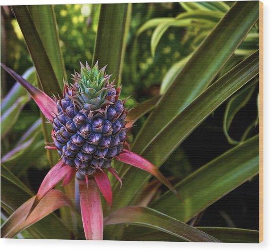 Pineapple Royal Wood Print