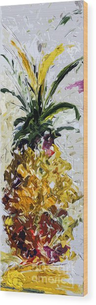 Pineapple Triptych Part 2 Wood Print