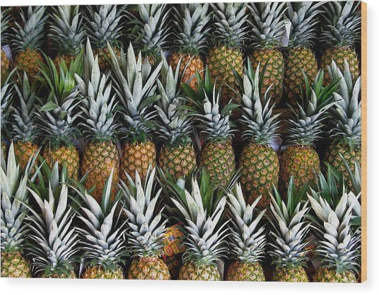 Pineapples  Wood Print