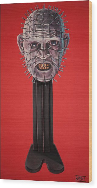Pinhead Wood Print by Brent Andrew Doty