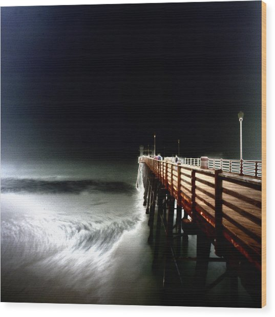 Pinhole Oceanside Pier Wood Print