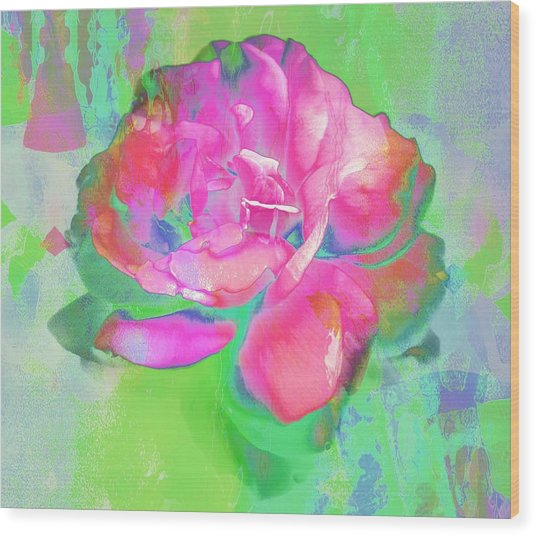Pink Abstract Wood Print by Cathie Tyler