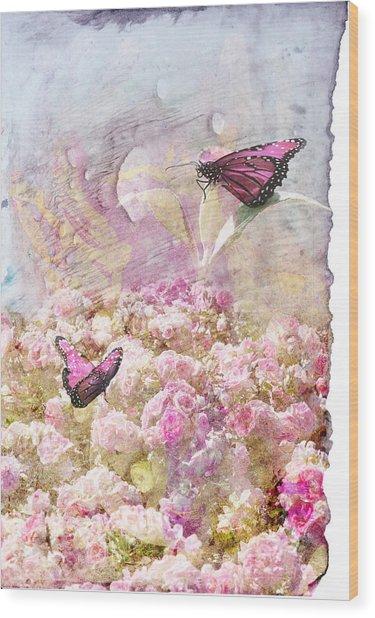 Pink Butterflies Wood Print by Juli Cromer