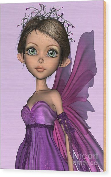 Pink Fairy Wood Print by Design Windmill