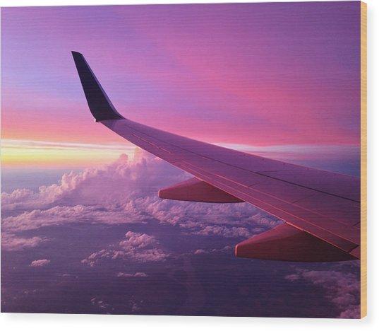 Pink Flight Wood Print