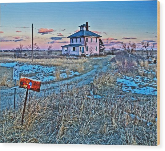 Pink House 001 Wood Print