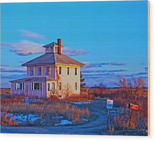 Pink House 002 Wood Print