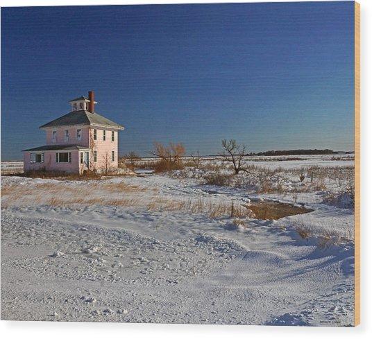 Pink House 003 Wood Print