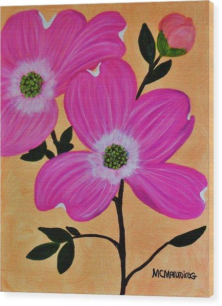 Pink Ladies Wood Print
