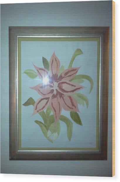 Pink Orchid Wood Print by Karen Jensen