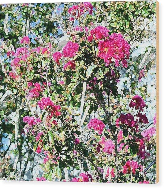 Pink Profusion Wood Print