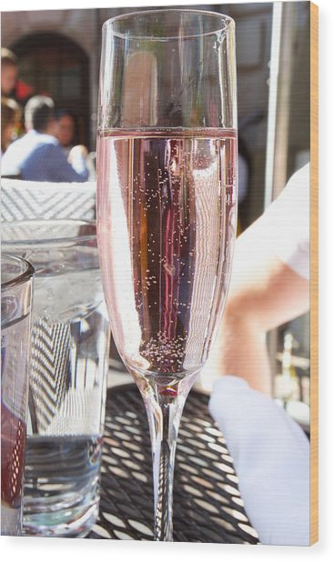 Pink Prosecco Wood Print
