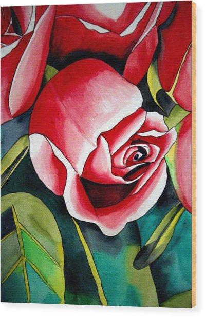 Pink Rosebud Wood Print by Sacha Grossel
