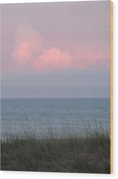 Pink Sky Wood Print by Cheryl Smith