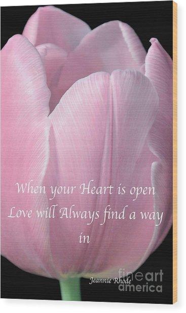 Pink Spring Tulip Wood Print