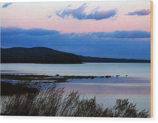 Pink Sunset In Kingston Wood Print