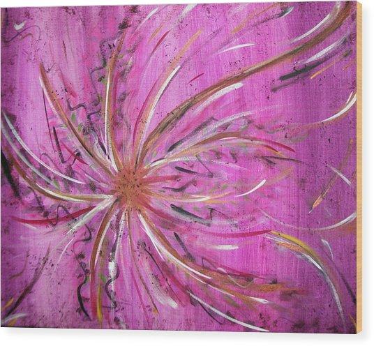 Pink Whisp Wood Print