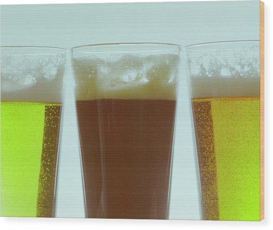 Pints Of Beer Wood Print