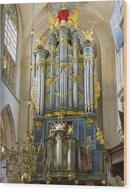 Pipe Organ In Breda Grote Kerk Wood Print