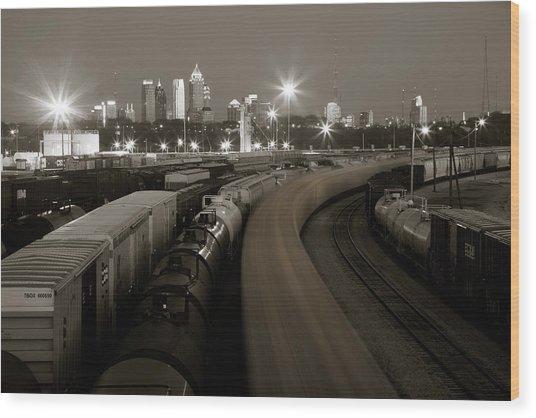 Pipeline To Atlanta Wood Print by Scott Moore
