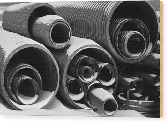 Pipes Wood Print