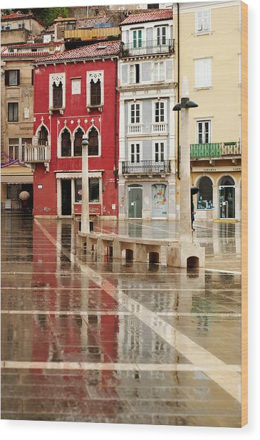 Piran Tartini Square Wood Print