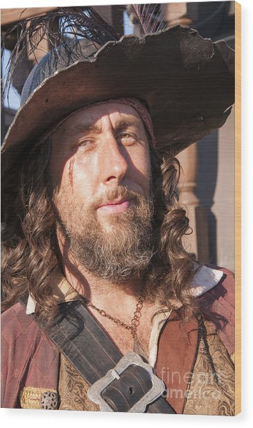Pirate Captain Wood Print