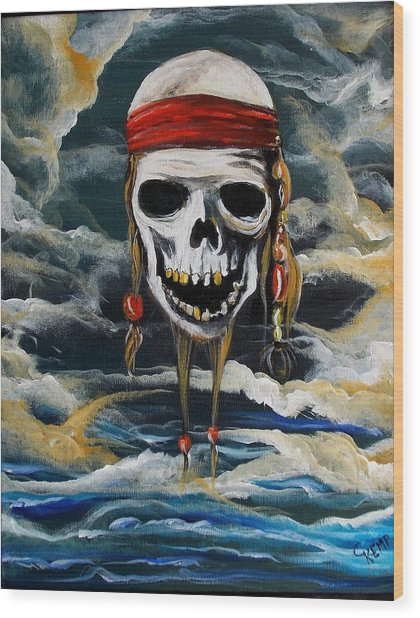 Pirate Past Wood Print