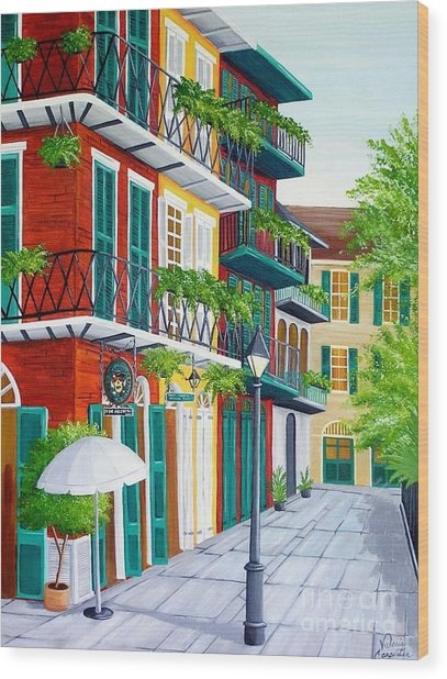Pirates Alley Wood Print
