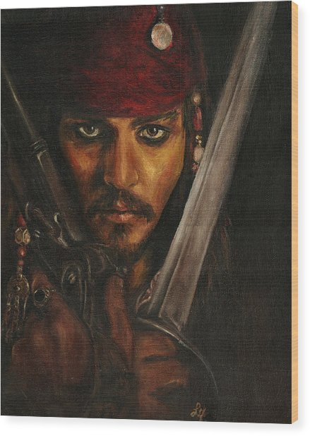 Pirates- Captain Jack Sparrow Wood Print